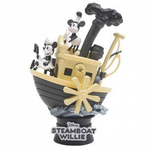 Beast Kingdom Disney Mickey Mouse Steamboat Willie D-Select DS-017 6 Inch Statue - PX Previews Exclusive (black)