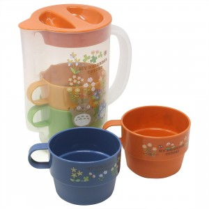 Studio Ghibli Skater My Neighbor Totoro Flower Stackable Cup And Pitcher Set (multi)
