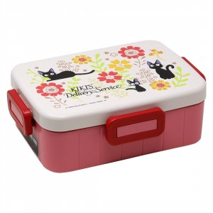 Studio Ghibli Skater Kiki's Delivery Service Traditional Jiji and Flower 650ML Bento Box With Divider (white)