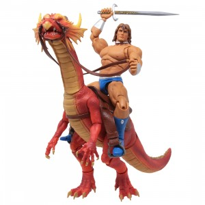 Storm Collectibles Golden Axe Ax Battler And Red Dragon 1/12 Action Figure (brown)