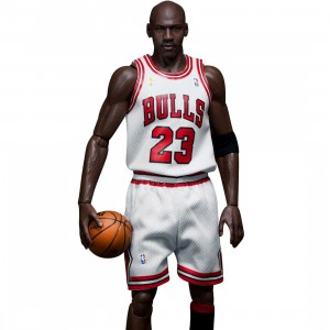 NBA x Enterbay Michael Jordan 1/6 Scale 12 Inch Figure - #23 Home Version (white)