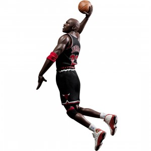 NBA x Enterbay Michael Jordan 1/6 Scale 12 Inch Figure - Limited Edition #23 Road Version (black)
