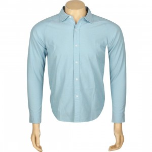 Undefeated Vintage Chambray Long Sleeve Shirt (blue / light blue)