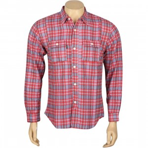 Undefeated Yardmaster Flannel Long Sleeve Shirt (red)