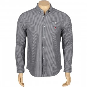 Undefeated U-Man Chambray Long Sleeve Shirt (blue)