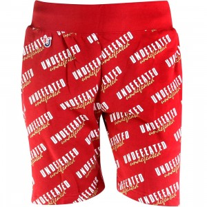 Undefeated Fanatic Sweat Shorts (red)