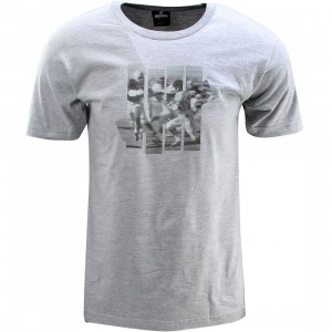 Undefeated 5 Strike Football Tee (gray / gray heather)