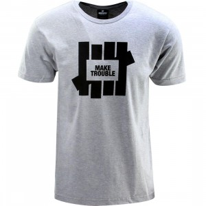 Undefeated Make Trouble Tee (gray / gray heather)