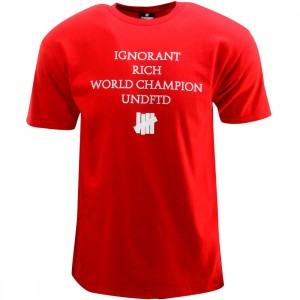 Undefeated World Champion Tee (red)