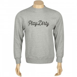 Undefeated Play Dirty Basic Pullover Crewneck (gray / athletic heather)