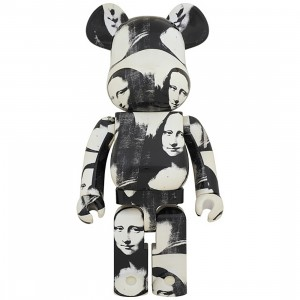PREORDER - Medicom Andy Warhol Double Mona Lisa 1000% Bearbrick Figure (white)