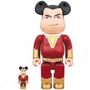 PREORDER - Medicom Shazam! 100% 400% Bearbrick Figure Set (red)