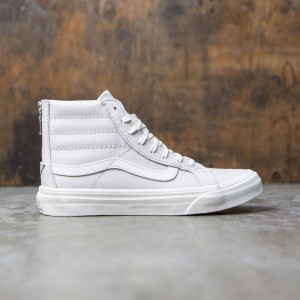 Vans Women Sk8-Hi Slim Zip - Leather (white / wind / blanc de blanc)