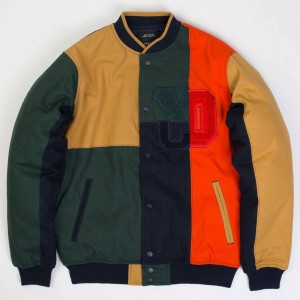 10 Deep Men Arise Patchwork Varsity Jacket (multi)