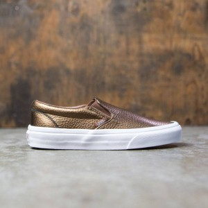 Vans Women Classic Slip-On - Metallic Leather (brown / saddle)