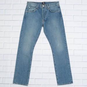 Stussy Men USA Light Wash Denim Jeans (blue)