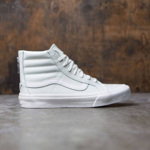 Vans Women Sk8-Hi Slim Zip - Leather (blue / zephyr / blanc de blanc)