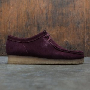Clarks Men Wallabee (burgundy / suede)