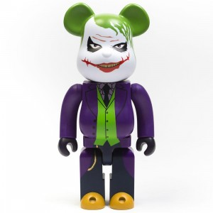 Medicom The Joker Laughing Version 400% Bearbrick Figure (purple / green)