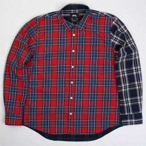Stussy Men Mixed Plaid Shirt (multi)