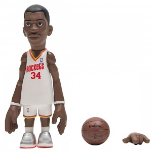 MINDstyle x Coolrain NBA Legends Houston Rockets Hakeem Olajuwon Figure (white)