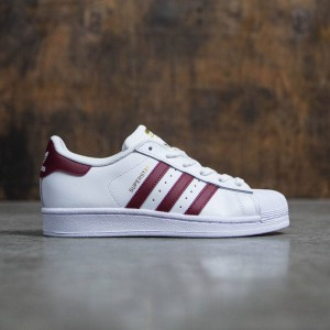 Adidas Big Kids Superstar Foundation (white / cardinal / gold metallic)