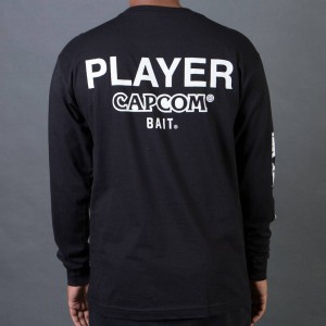BAIT x Street Fighter Men Capcom Player Long Sleeve Tee (black)