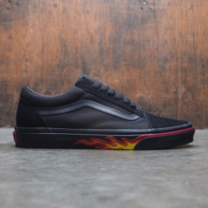 Vans Men Old Skool - Black Flame Wall (black / flames)