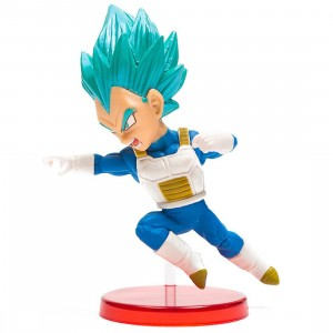 Banpresto Dragon Ball Super World Collectable Figure Vol 9 - Super Saiyan Blue Vegeta Figure (blue)