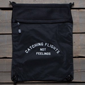Dimepiece Catching Flights Drawstring Backpack (black)