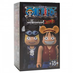 Medicom One Piece 20th Anniversary 100% Bearbrick Figure Keychain - 1 Blind Box