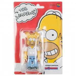 Medicom The Simpsons Homer Simpson 100% Bearbrick Figure (yellow)