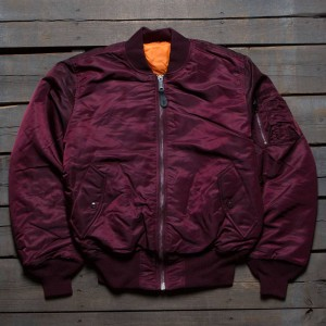 Alpha Industries Men Alpha MA-1 Flight Jacket (burgundy / maroon)