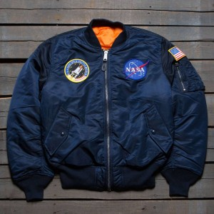 Alpha Industries Men NASA MA-1 Flight Jacket (blue / replica)