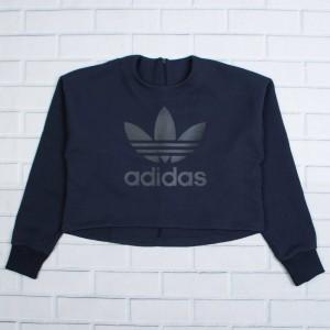 Adidas Women Trefoil Logo Sweatshirt (blue / legend ink)