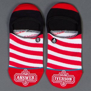 Stance x Allen Iverson Men Candystripe Invisible Socks (red)