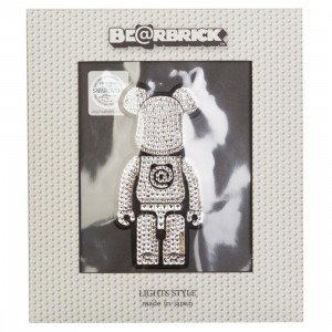 Medicom Lights Style Bearbrick Decoration Sticker (white)