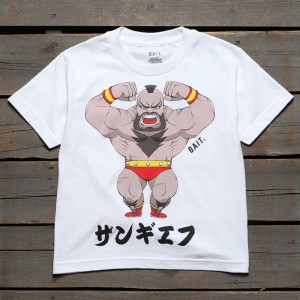 BAIT x Street Fighter Chibi Zangief Youth Tee (white)