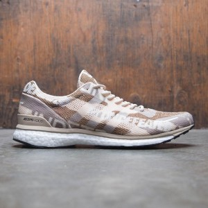 Adidas x Undefeated Men Adizero Adios 3 (tan / dune / tactile khaki / base khaki / core black / white)
