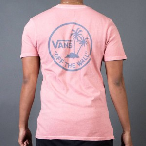 Vans Men Vintage Mini Palm Tee (tan / rose / mirage)