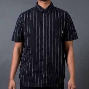 Vans Men GC Stripe Shirt (black / frost gray)