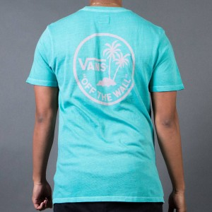 Vans Men Vintage Mini Palm Tee (blue / rose tan)