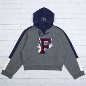 Puma x Fenty By Rihanna Women Hooded Panel Sweater (gray / charcoal heather)