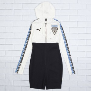 Puma x Fenty By Rihanna Women Hooded Zip Front Leotard Suit (white / ice)