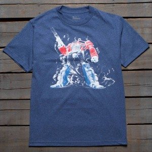 BAIT x Transformers Men Optimus Prime Tee (blue / denim heather)
