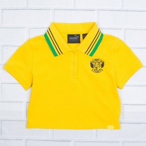 Puma x Fenty By Rihanna Women Cropped Polo (yellow)