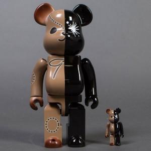 Medicom Mihara Yasuhiro 100% 400% Black Bearbrick Set (black)