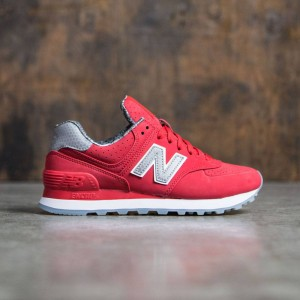 New Balance Women 574 Luxe Rep WL574SYB  (red)