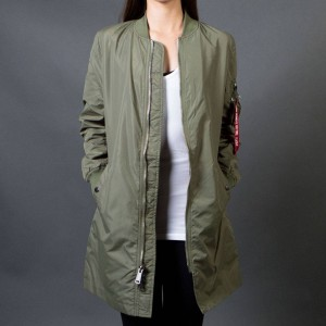 Alpha Industries Women L2B Long Flight Jacket (green / sage)