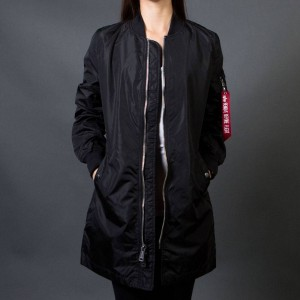 Alpha Industries Women L2B Long Flight Jacket (black)